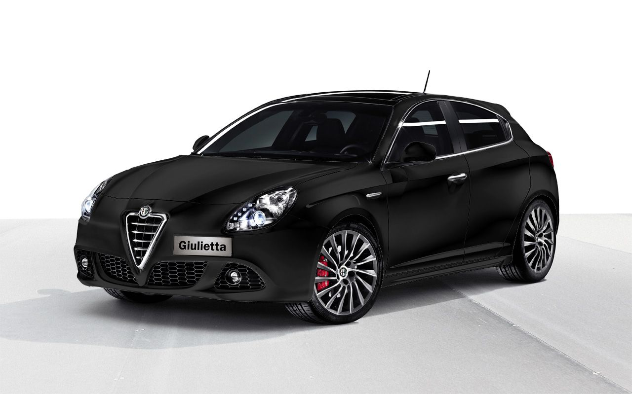 alfa romeo giulietta in black - car hd wallpaper | car picture