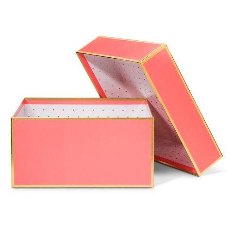 Sugar Paper Coral and Gold Gift Box - Large   Organization ...