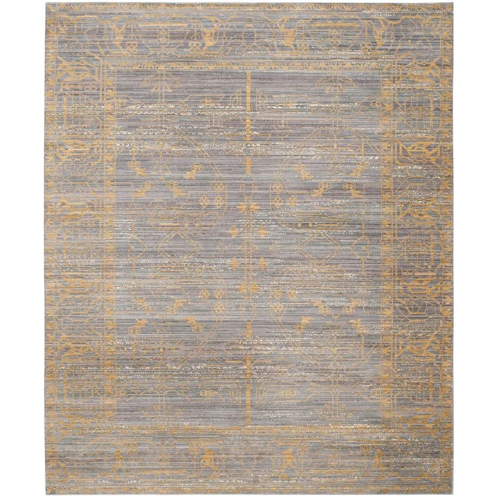 Safavieh Valencia Grey Gold 9 Ft X 12 Ft Area Rug Val104e 9 The Home Depot Vintage Area Rugs Area Rugs Gold Rug