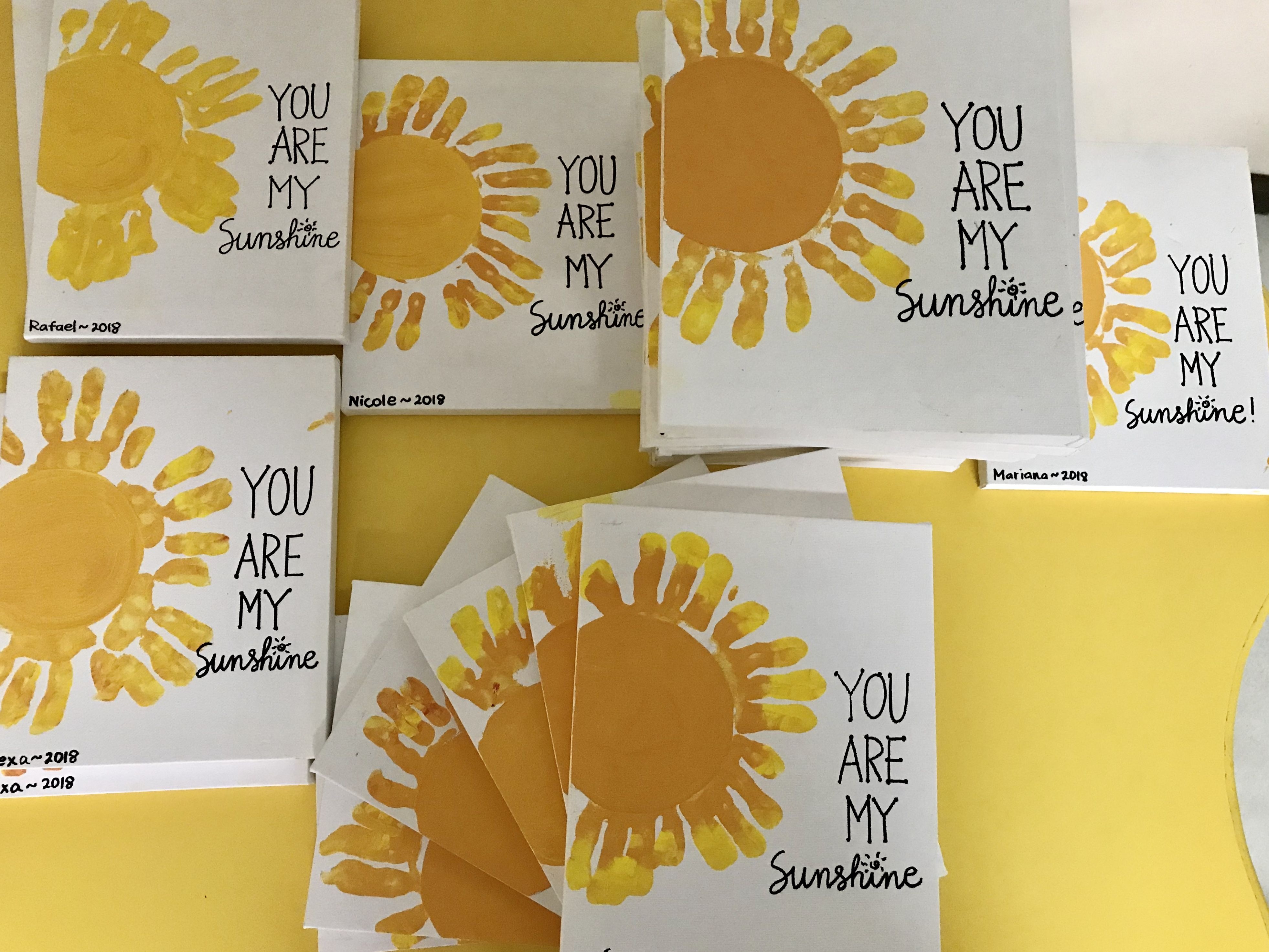 You Are My Sunshine Handprints With Images