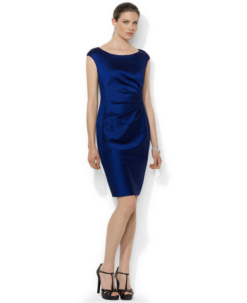Lauren ralph lauren draped capsleeve dress dresses