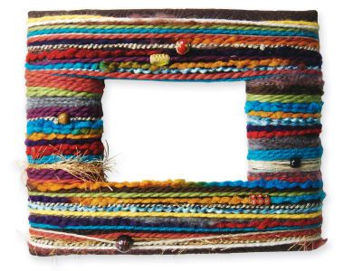 Yarn Wrapped Frame | Craft Ideas | Pinterest | Yarns, Wraps and Craft