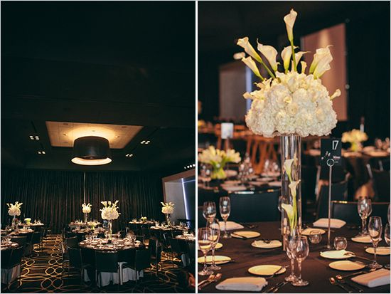 Gorgeous Glam Old Hollywood Inspired Black And White Wedding