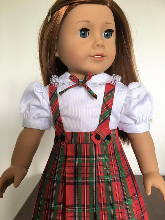 7a9797ff4 Taffeta Pleated Skirt and Blouse fits American girl dolls | Doll ...