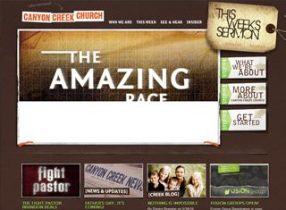Attractive This Church Website Pays Close Attention To Things Like Page Fold, Graphics  And Images