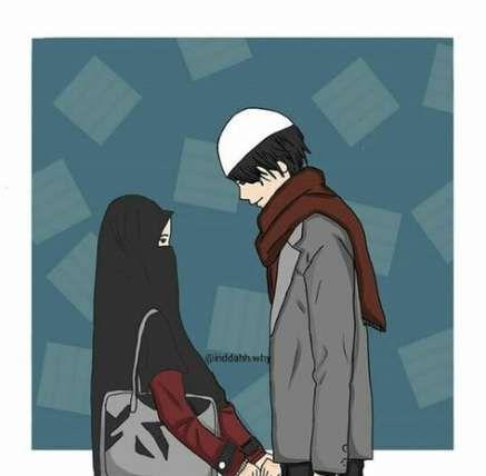 Best Anime Art Coupel Muslim 19+ Ideas