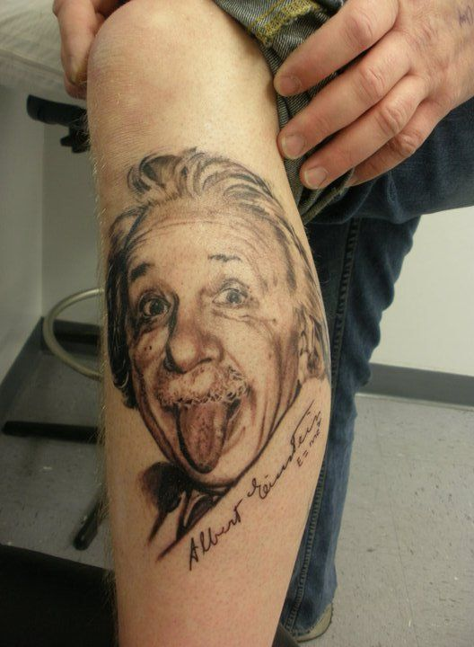 Albert Einstein Tattoo Portrait Tattoo Clothing Original