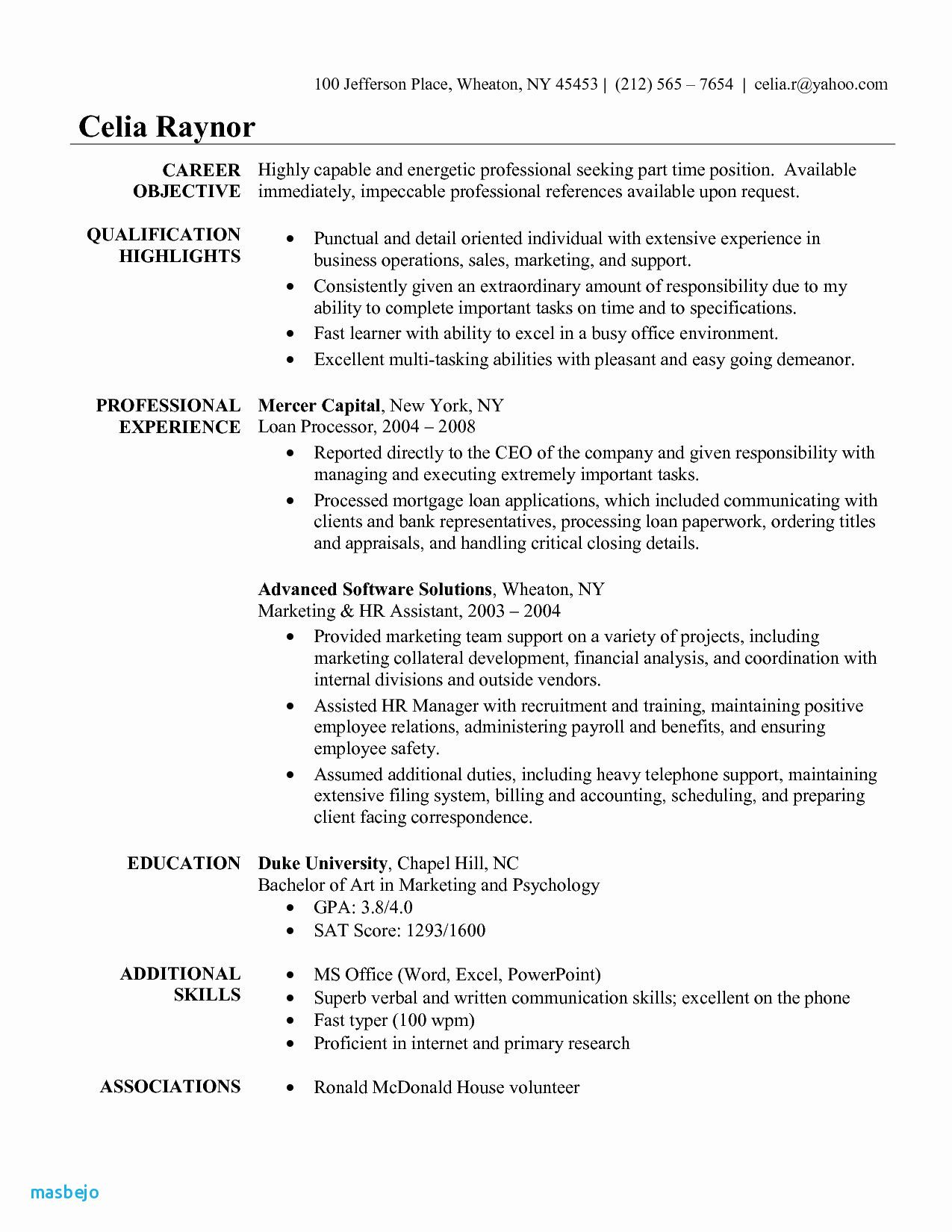 Resume Examples Quick Learner In 2020 Administrative Assistant