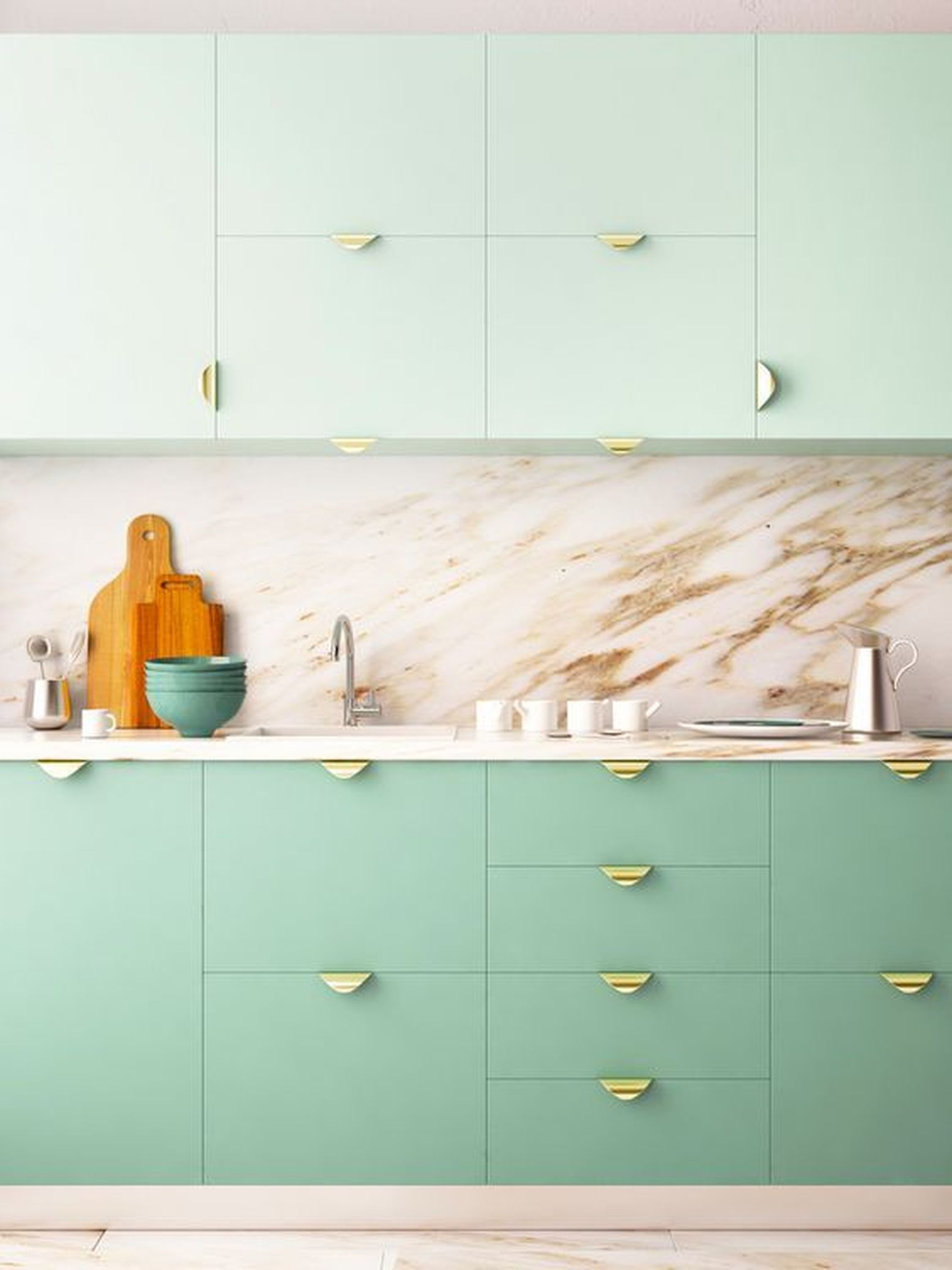 The Biggest Kitchen Cabinet Trends Of The Year According To Designers In 2020 Kitchen Cabinet Trends Minimalist Kitchen Design Pastel Kitchen
