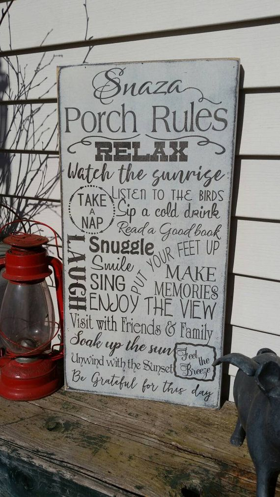 Porch Rules Sign Information This Sign Is Made From Birch 1 4