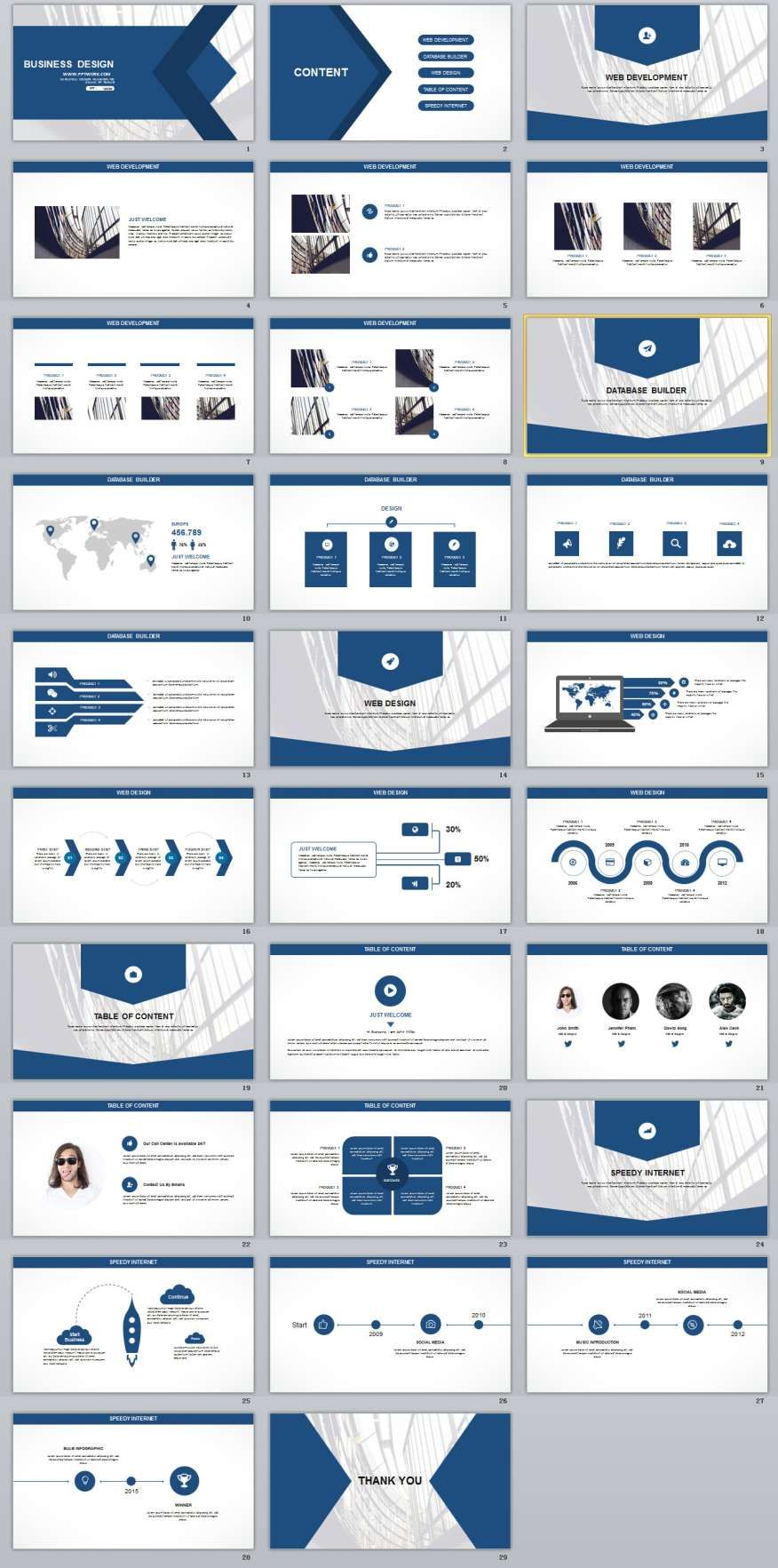 29 blue white business report powerpoint templates toneelgroepblik Image collections