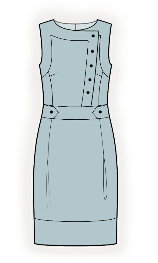 Robe - Patrons de couture #4367. Made-to-measure sewing pattern from Lekala with free online download.