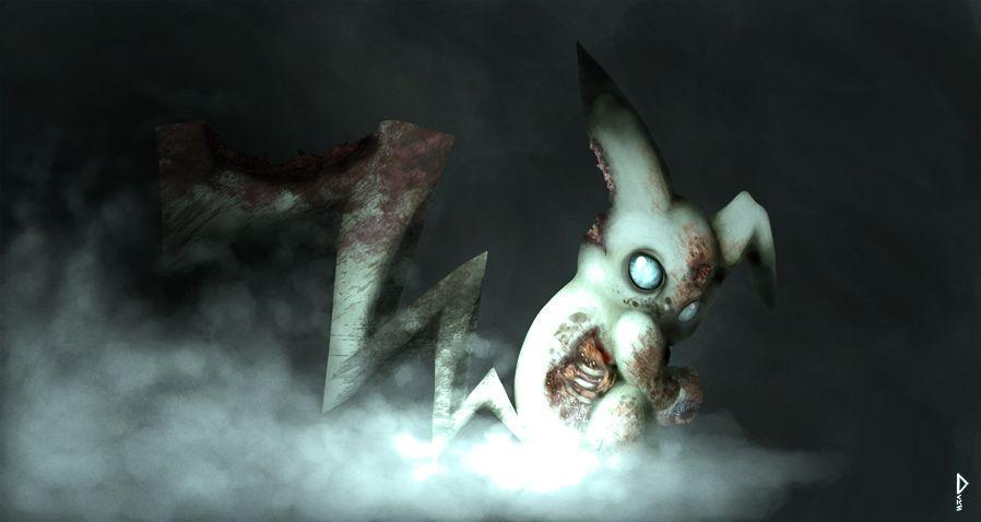 Zombie Pikachu  by ~Deks-Designs @deviantART