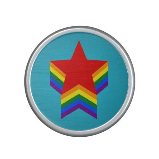 Rainbow pride stars Speaker