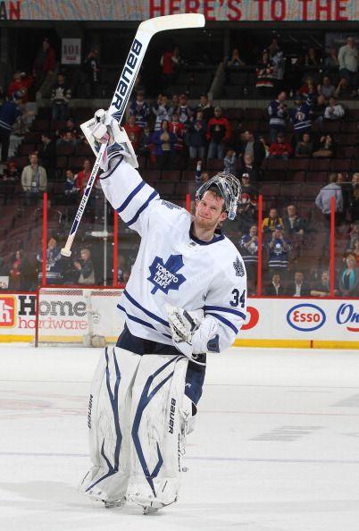 James Reimer With A Shutout Majorreisman Toronto Maple Leafs Vs Ottawa Senators 03 30 13 Andre Ringue Maple Leafs Toronto Maple Leafs Hockey Goalie