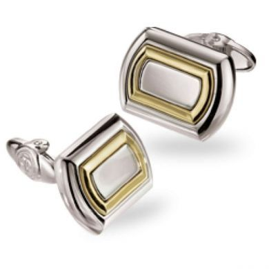 Two Toned Curved Cufflinks