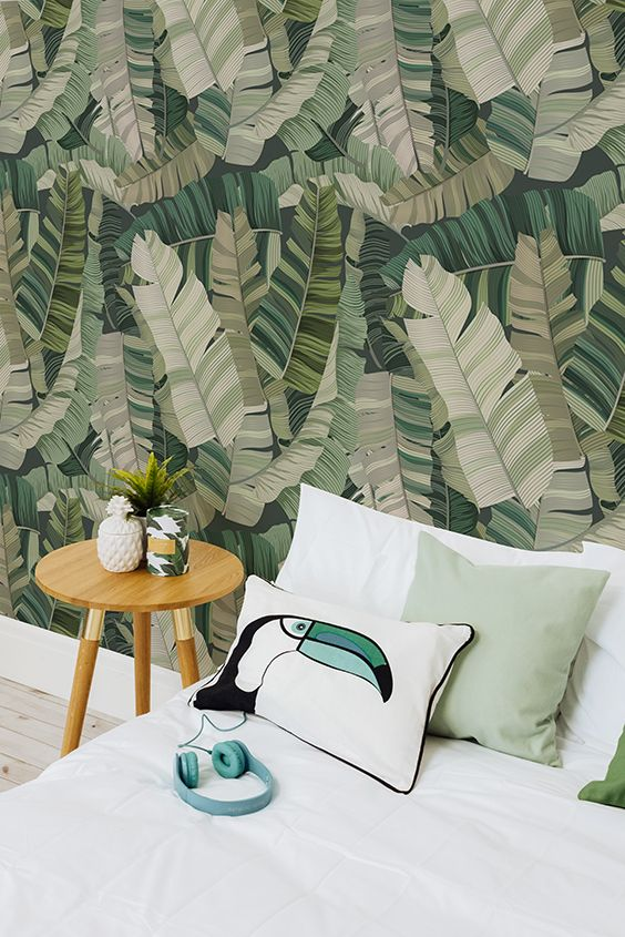 Urban Camouflage Wallpaper 3d Tropical Leaf Design
