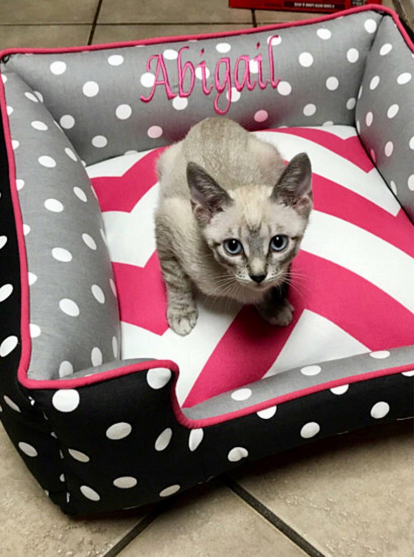 5631607d68f3 Cat Bed | Choose your own fabrics| Pet furniture | Custom Cat Bedding | Cat  Furniture | Personalized Pet Items | Washable Cat Bed } Cat
