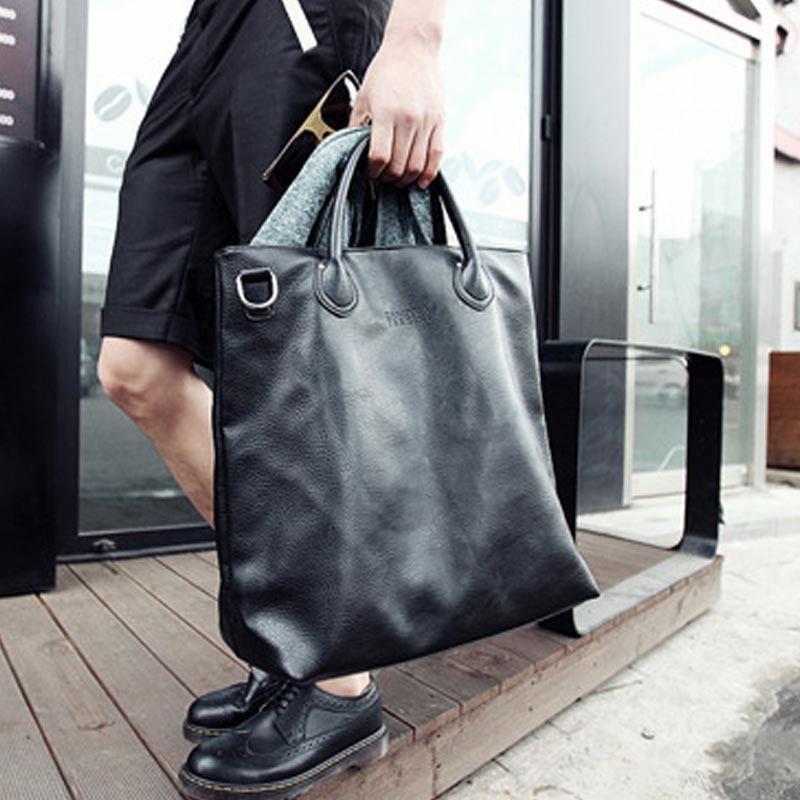 92127b51ab53 X-Online hot sale man handbag male fashion large tote men simple black bag