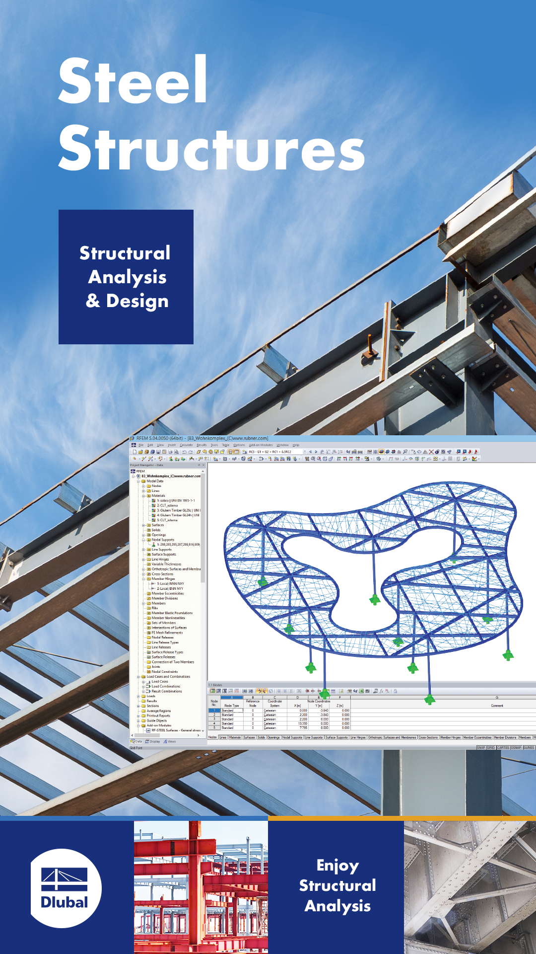 Steel Structural Analysis Design Software Structural Analysis Structural Engineering Civil Engineering Design
