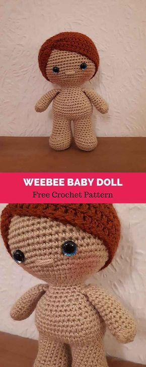 Weebee Standard Size Baby Doll Free Crochet Pattern Amigurumi