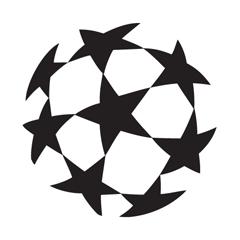 UEFA Champions League vector logo  abstract symbol mark