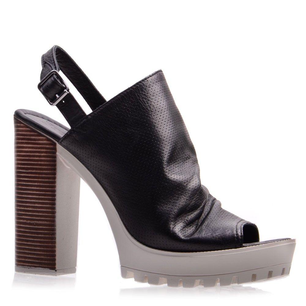 Босоножки на каблуке 007269, цвет черный - купить на Prego.ua