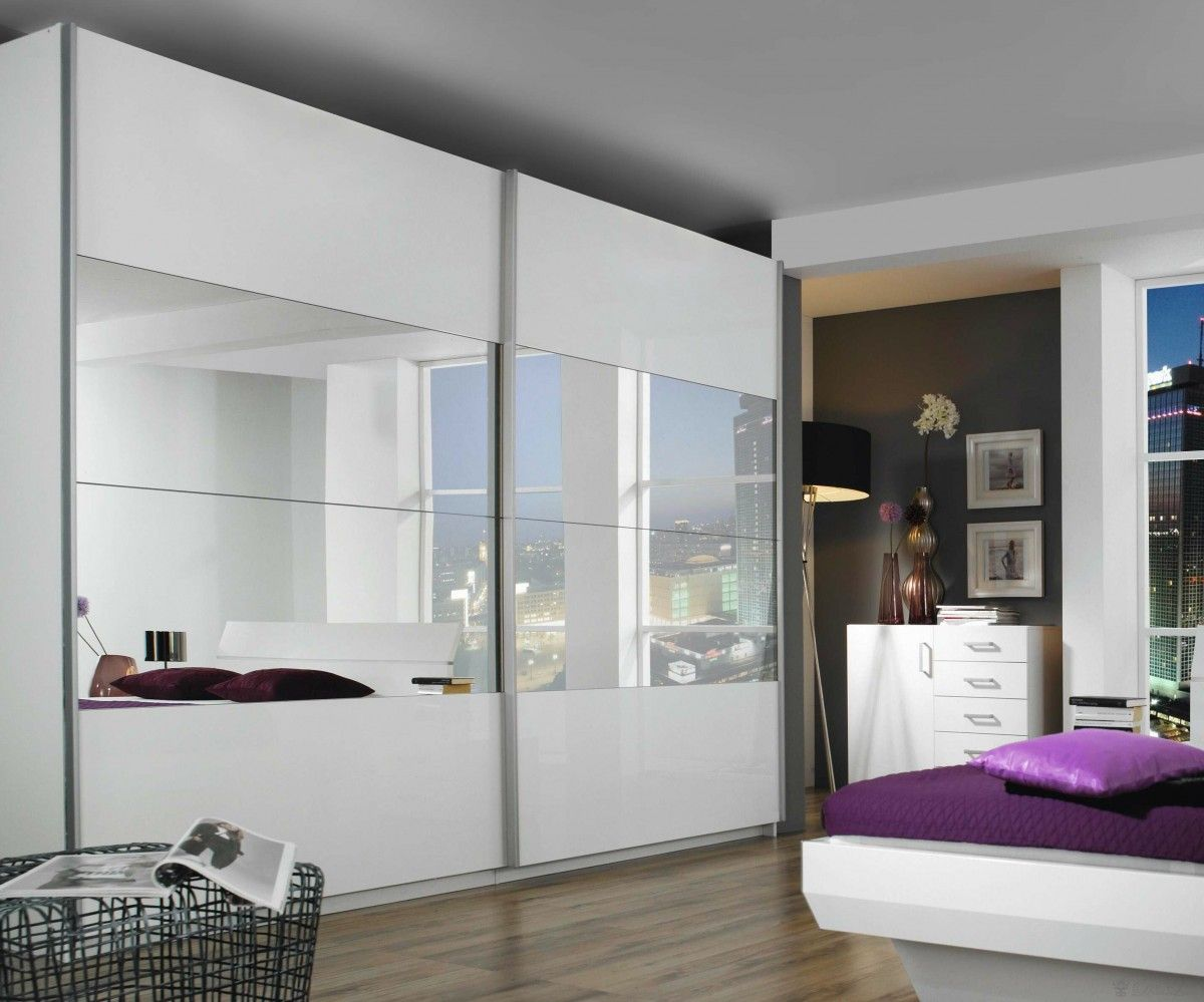 billig kleiderschrank wei hochglanz mit spiegel schlafzimmer pinterest schrank. Black Bedroom Furniture Sets. Home Design Ideas