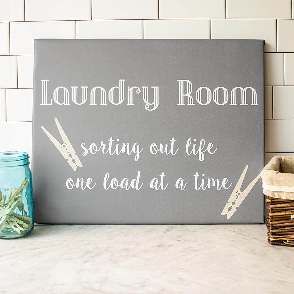 Cathy S Concepts 16 In X 20 In Laundry Room Canvas Wall Art Grey Laundry Room Signs Canvas Wall Art Laundry Room
