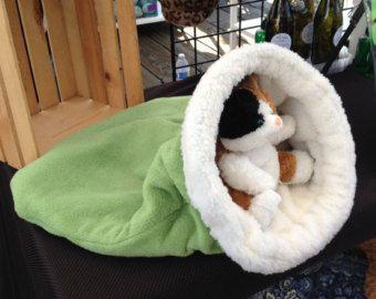 Snuggle Den, Pet Bed, Sleeping Bag, Den, burrow bed. dog sleeping bag, snuggle sacks, cave beds
