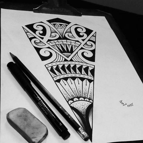 Rascunho Maori Com Pontilhismo Desenho Para Fazer Na Batata Da