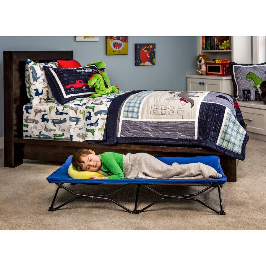 Cot Bed Camping Children Kids Toddler Portable Tent Camp Travel Guest Blue Regalo