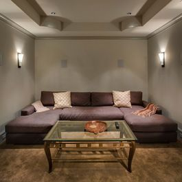 Small Media Room Design Ideas, Pictures, Remodel, and Decor - page 2 #mediarooms