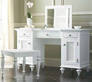 White-Bedroom Vanity Table Design Decorating | Handy Husband ...
