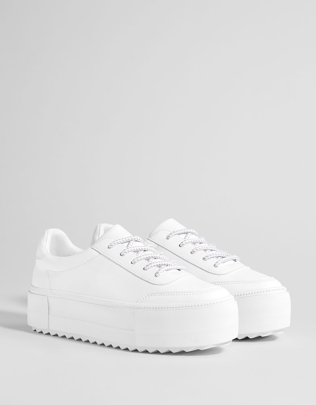 5231ff1ba47 White platform sneakers. Discover this and many more items in Bershka with  new products every week