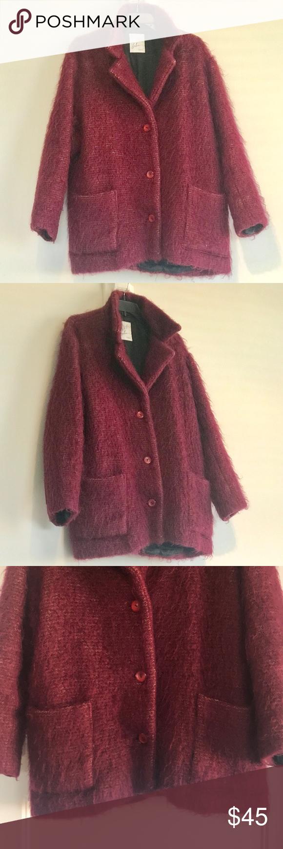 Gorgeous Burgundy Jacket SZ L