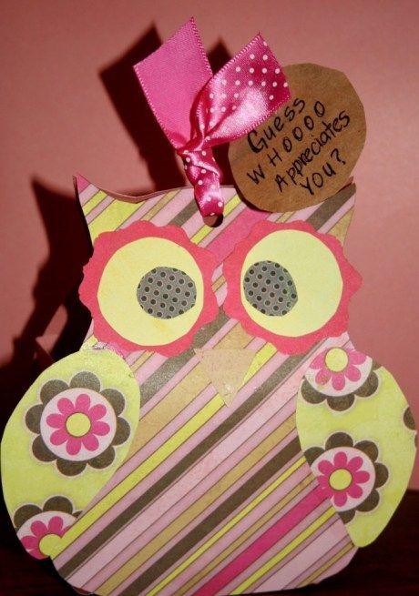 Paper Owl Teacher Gift Owl Teacher Gifts Teacher Gifts