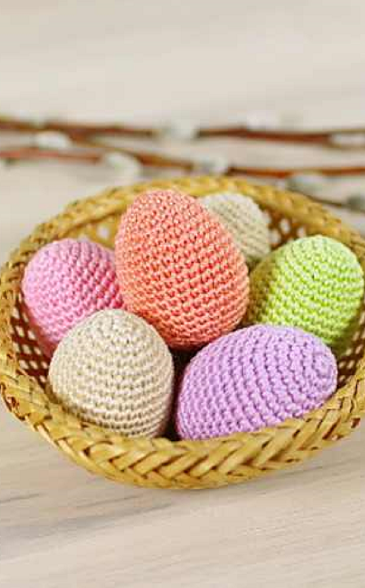 Simple Crochet Chicken Eggs Easter Eggs Amigurumi By Kristi