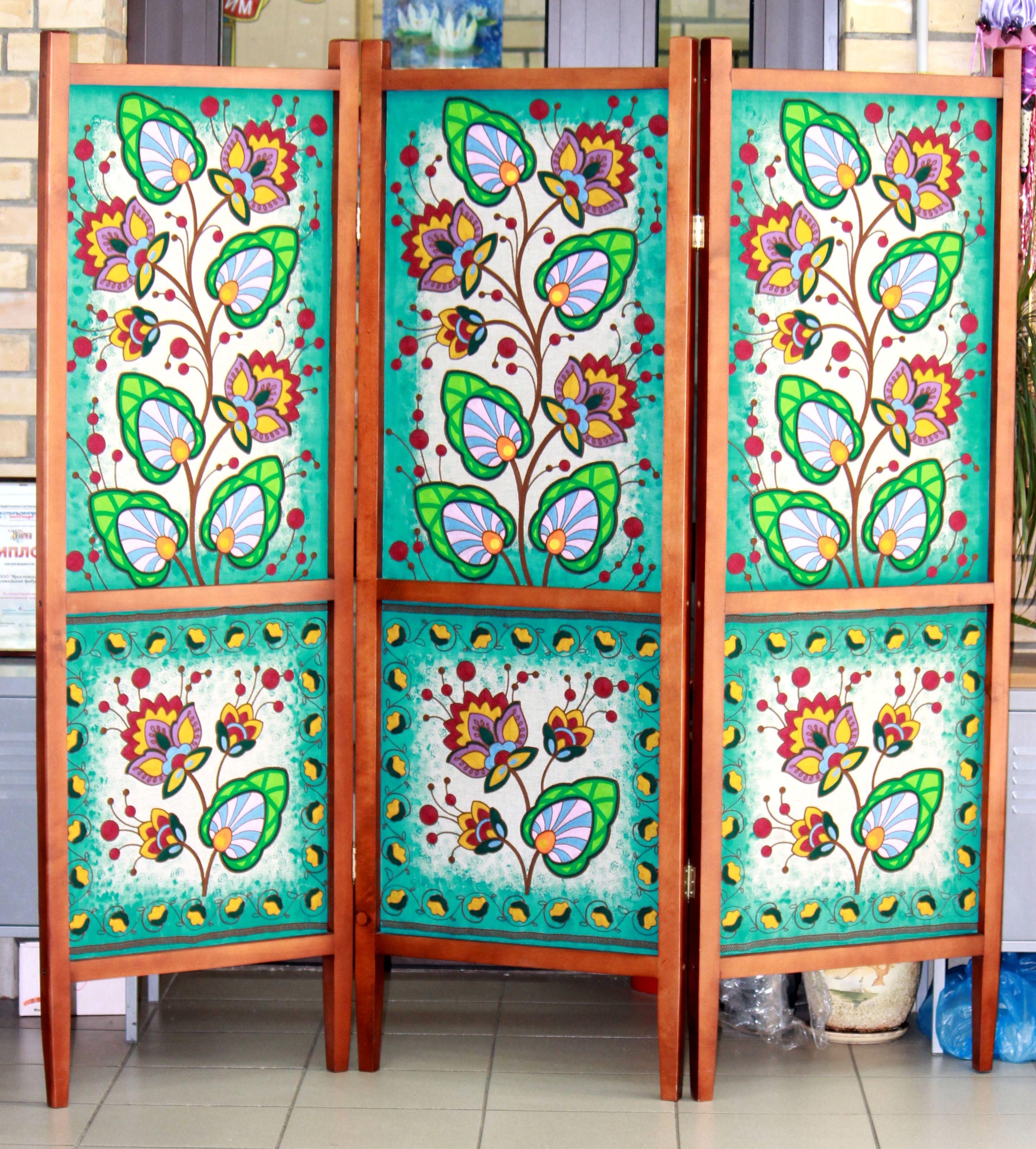 Вышивка по росписи на ткани