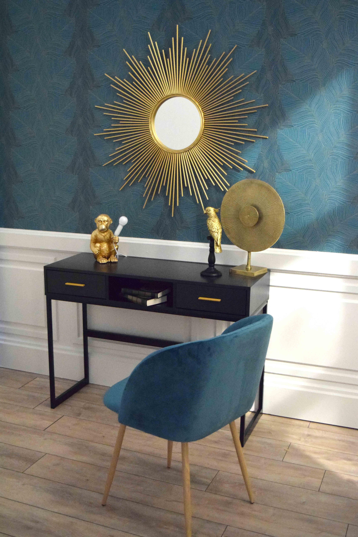 Fauteuil Bleu Canard Scandinave Velours Deco Kalico Decoration Maison Fauteuil Bleu Canard Fauteuil De Table