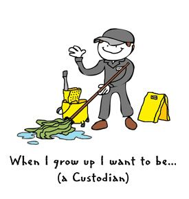 Custodian.   JUST SEEING WHAT A JANITOR/CUSTODIAN LOOKED LIKE, ANDERSEN #custodianappreciationgifts