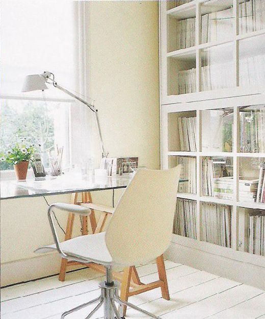 "#design #interior #inspiration {love the class cabinets #homeoffice From Caroline Clifton-Mogg's ""A Space of My Own""}"