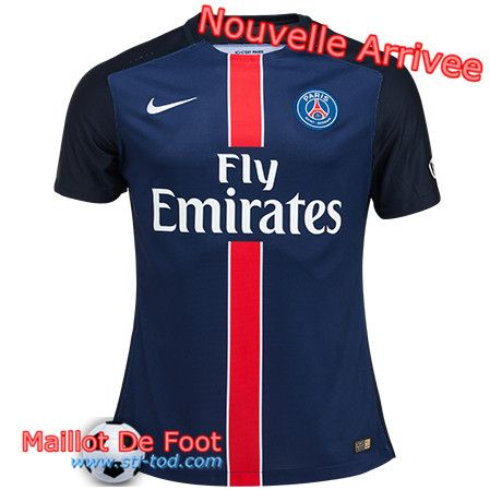Boutique Maillot PSG Domicile 2015 2016 Pas Cher Bleu Officiel