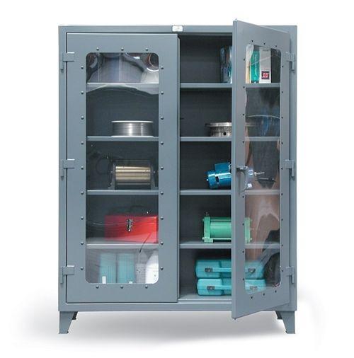 strong hold see-thru door industrial metal storage cabinet, metal