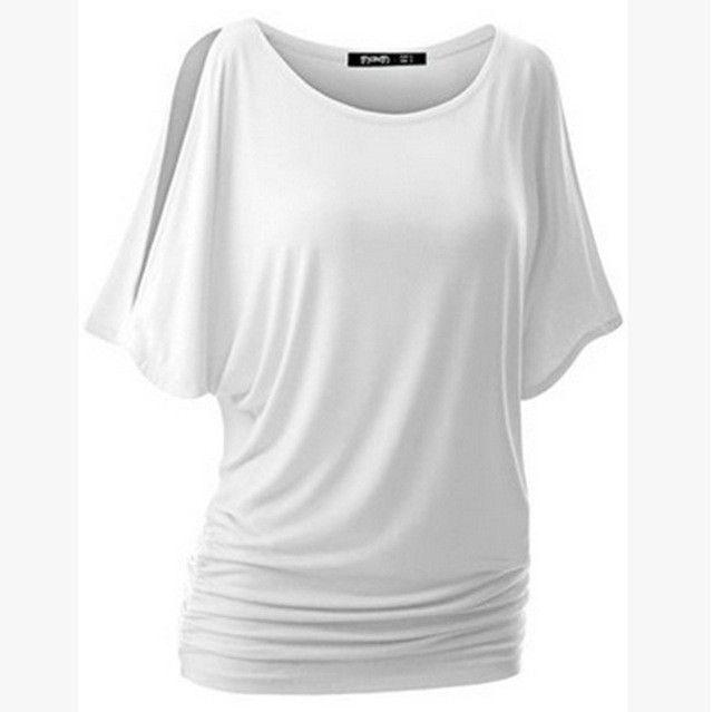 b71a63b78af2 Plus size casual · LASPERAL Brand T Shirt Women Batwing Sleeve Shirts Top  Solid O-Neck Cotton Blend Summer