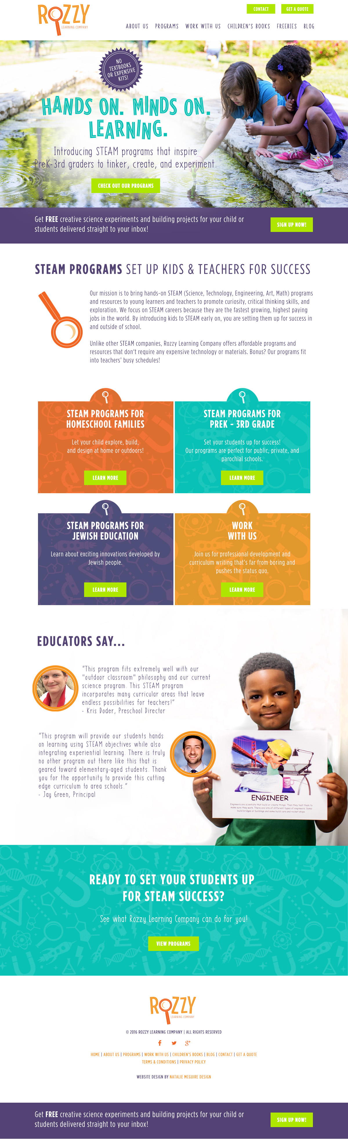 Rozzy Learning Company, a STEAM program for PreK 3rd