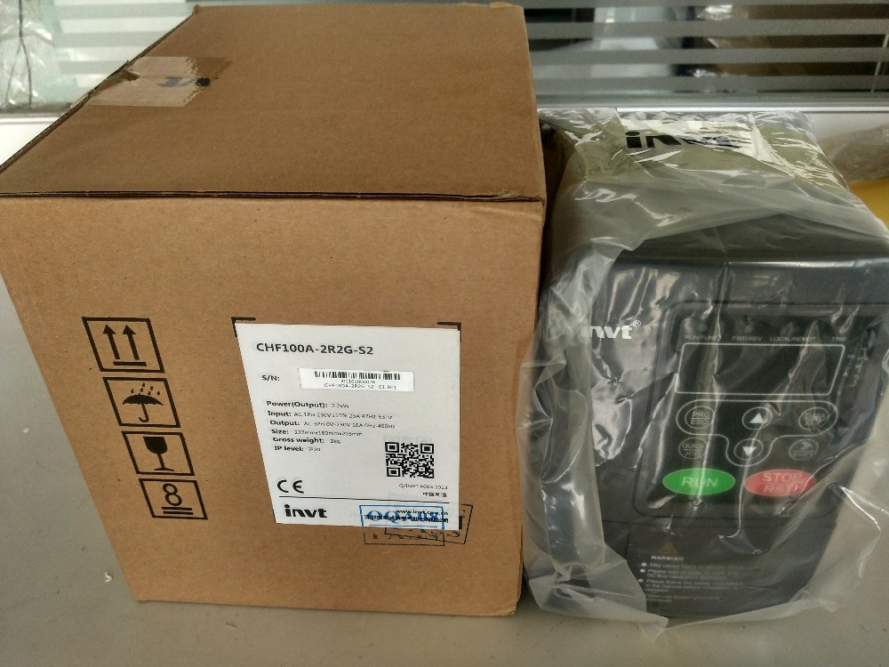 225.15$  Watch now - http://aliovk.worldwells.pw/go.php?t=1884968752 - 1 phase 220V 2.2KW 23.0A Input CHF100A-2R2G-S2 INVT inverter VFD frequency AC drive  NEW 225.15$