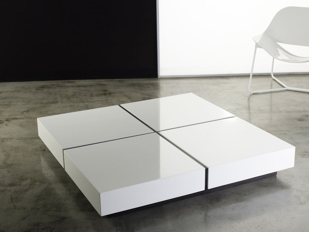 Dean Coffee Table White Lacquer With Images Contemporary