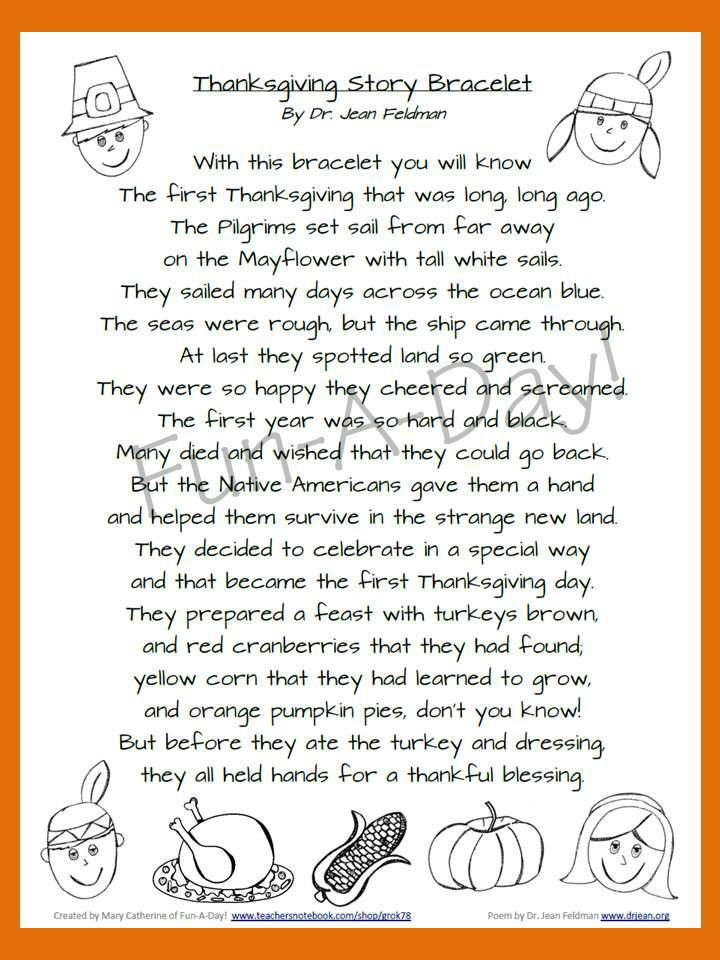 Thanksgiving Story Bracelet Thanksgiving stories Thanksgiving and