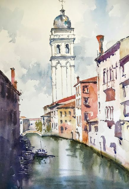 Binary Colors - Paintings by Michele Clamp: Venice - Chiesa di Santa Maria della Visitazione